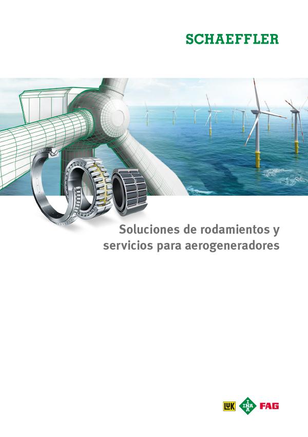 Soluciones de rodamientos y servicios para aerogeneradores
