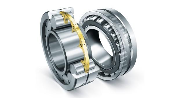 Os rolamentos de rolos cilíndricos e os rolamentos oscilantes de rolos da Schaeffler cumprem os exigentes requisitos dos equipamentos de construção.