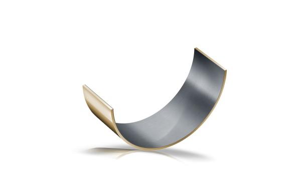 Casquillo de fricción de material compuesto de metal-polímero, semimonocoque