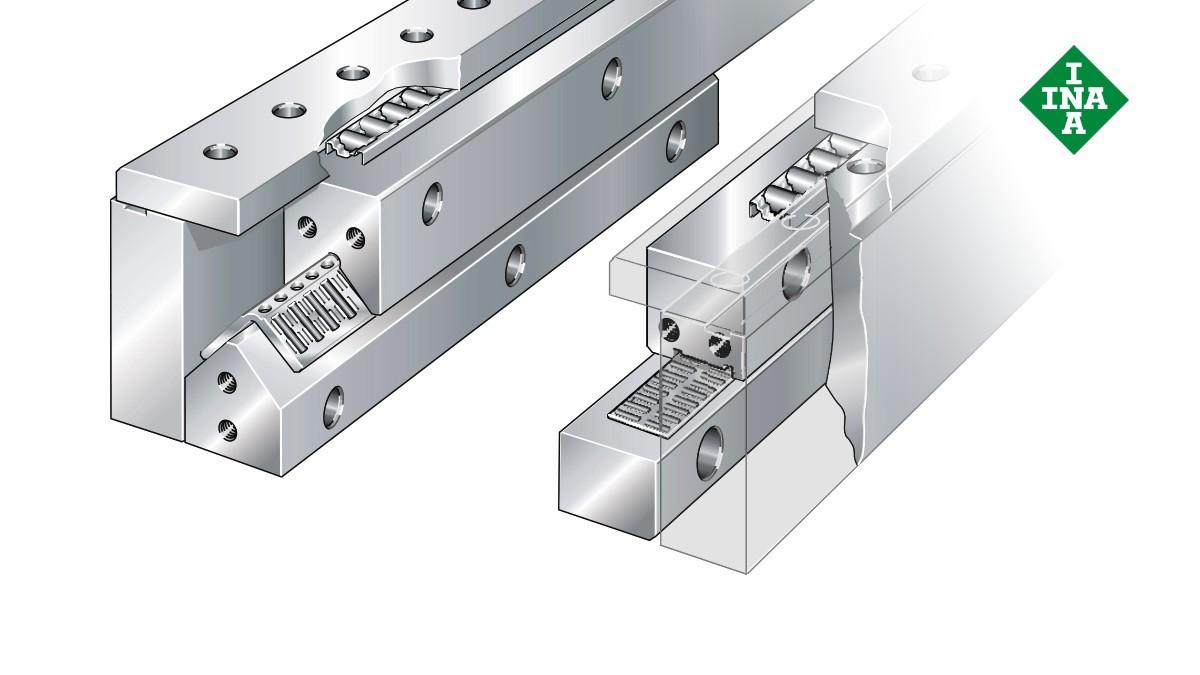 Sistemas de guiado lineal de Schaeffler: Sistemas cerrados con jaulas planas de agujas y de rodillos cilíndricos