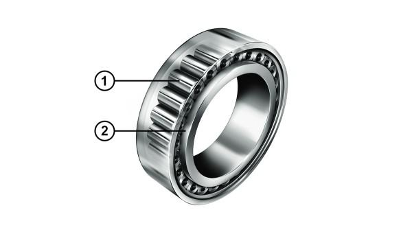 Rodamiento de rodillos cilíndricos con relación optimizada de contacto de los bordes