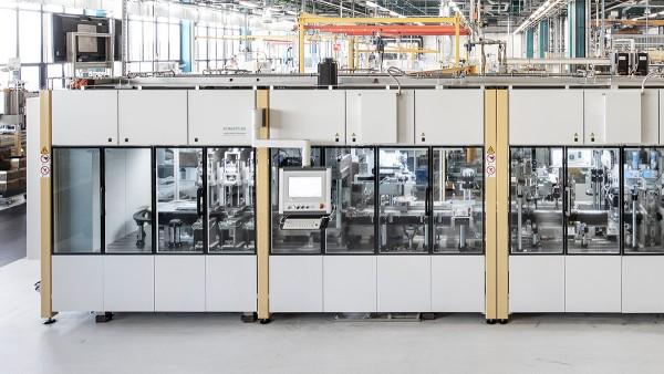 Hall de produção da maquinaria especial da Schaeffler