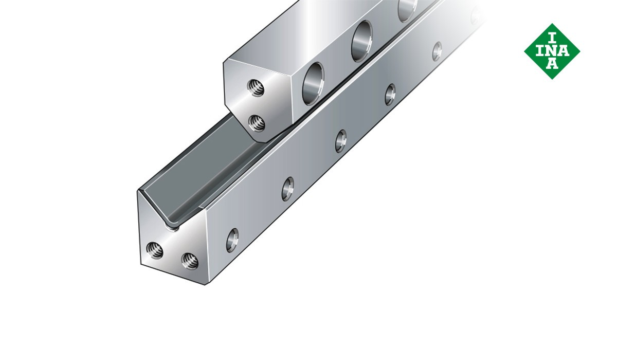 Sistemas de guiado lineal de Schaeffler: Carriles-guía M con capa deslizante y carriles V