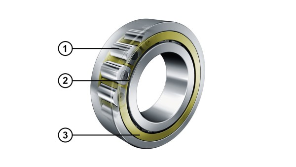 Rodamientos de rodillos cilíndricos con relación optimizada de contacto de los bordes